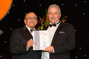 Joseph Assaf AM and Bass accepting Certificate