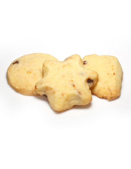 Vanilla Choc Chip Shortbread Shapes
